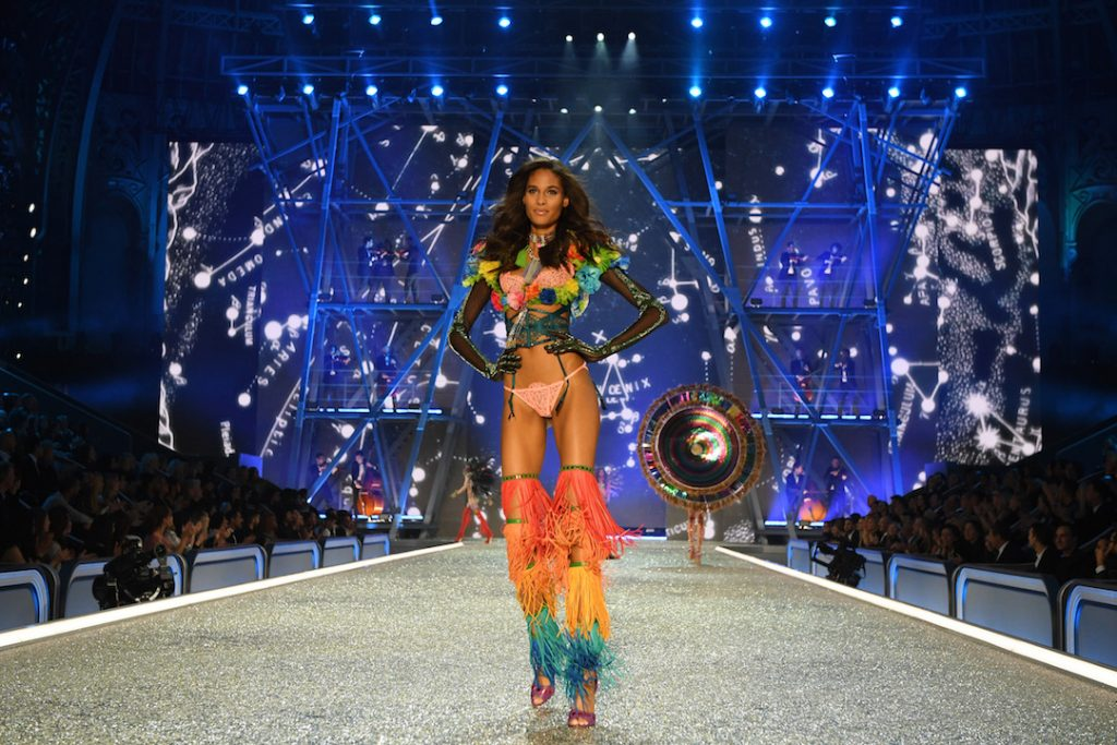 PARIS, FRANCE - NOVEMBER 30: Cindy Bruna walks the runway during the 2016 Victoria's Secret Fashion Show on November 30, 2016 in Paris, France. (Photo by Dimitrios Kambouris/Getty Images for Victoria's Secret)