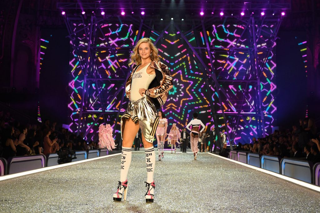 PARIS, FRANCE - NOVEMBER 30: Bridget Malcolm walks the runway during the 2016 Victoria's Secret Fashion Show on November 30, 2016 in Paris, France. (Photo by Dimitrios Kambouris/Getty Images for Victoria's Secret)
